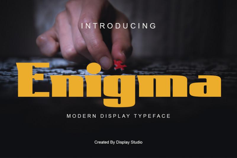 Enigma Display Fonte