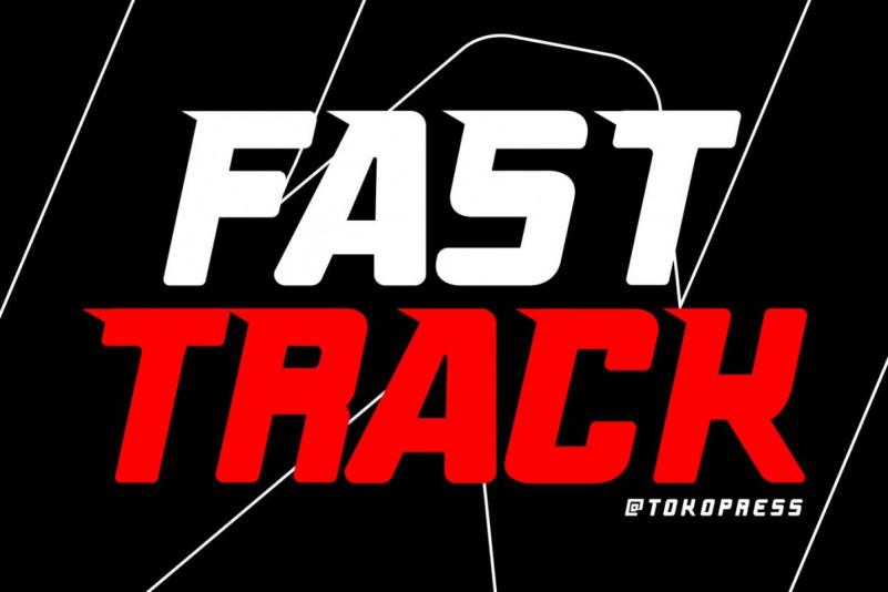 Fast Track Display Font