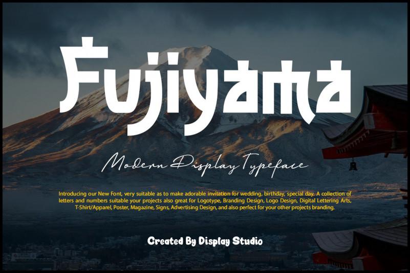 Fujiyama Display Font