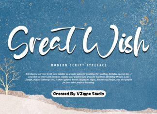 Great Wish Script Font