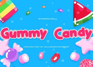 Gummy Candy Display Font