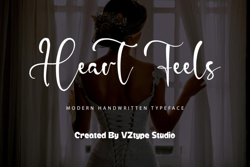 Heart Feels Script Font