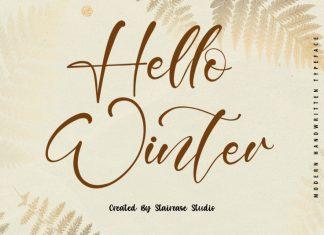 Hello Winter Script Font