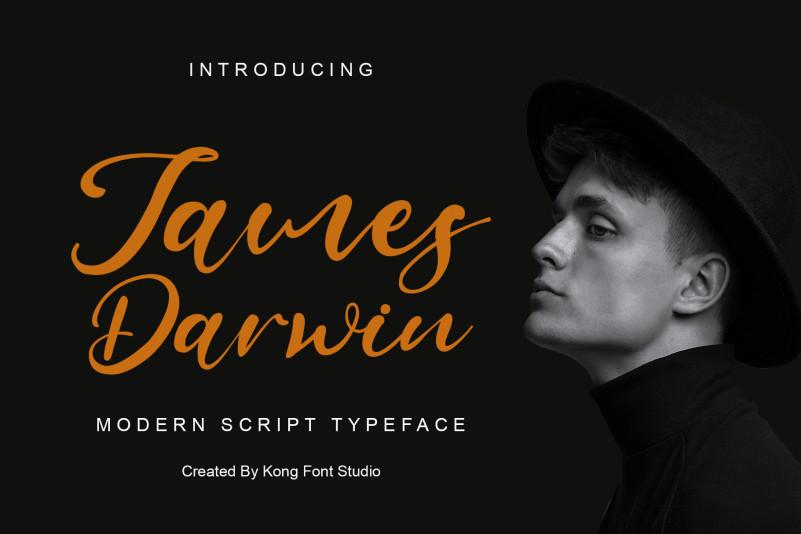 James Darwin Script Font
