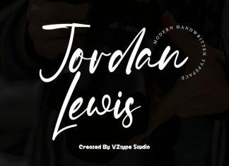 Jordan Lewis Handwritten Font