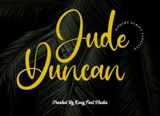 Jude Duncan Script Font