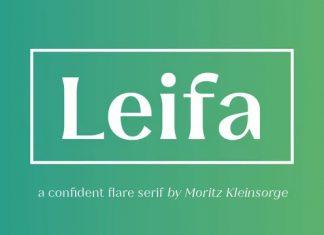 Leifa Serif Font