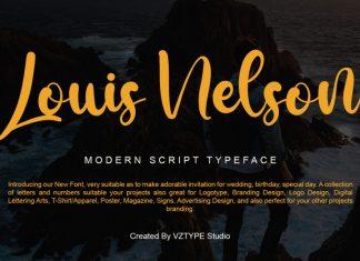 Louis Nelson Script Font