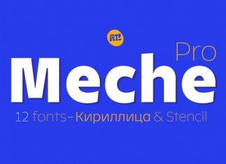 Meche Pro Sans Serif Font