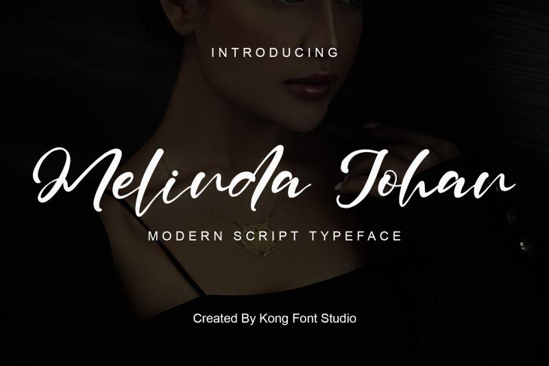 Melinda Johan Script Font