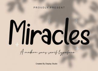 Miracles Display Font