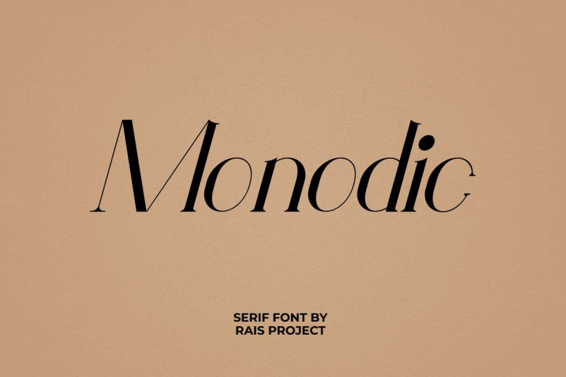 Monodic Serif Font