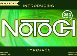 Notoch Display Font
