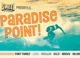 Paradise Point Display Font