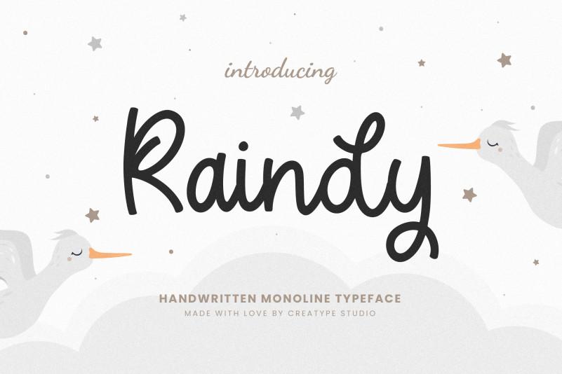 Raindy Script Font