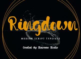Ringdown Script Font