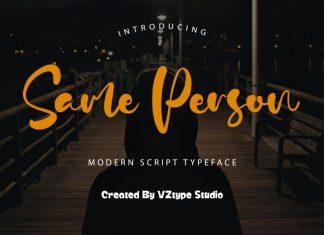 Same Person Script Font