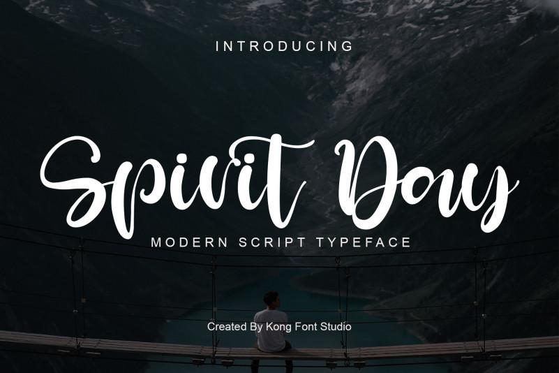 Spirit Day Script Font