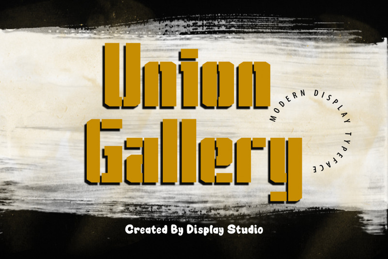 Union Gallery Display Font