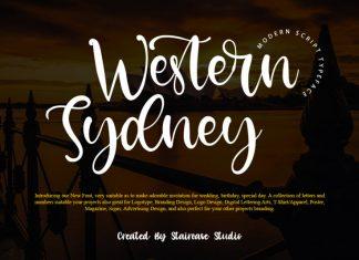 Western Sydney Script Font