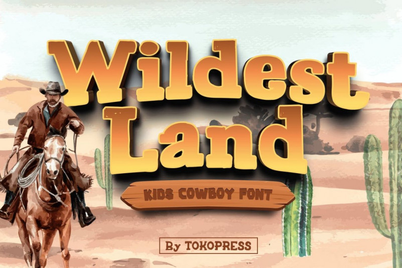 Wildest Land Display Font