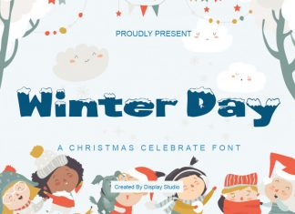 Winter Day Display Font