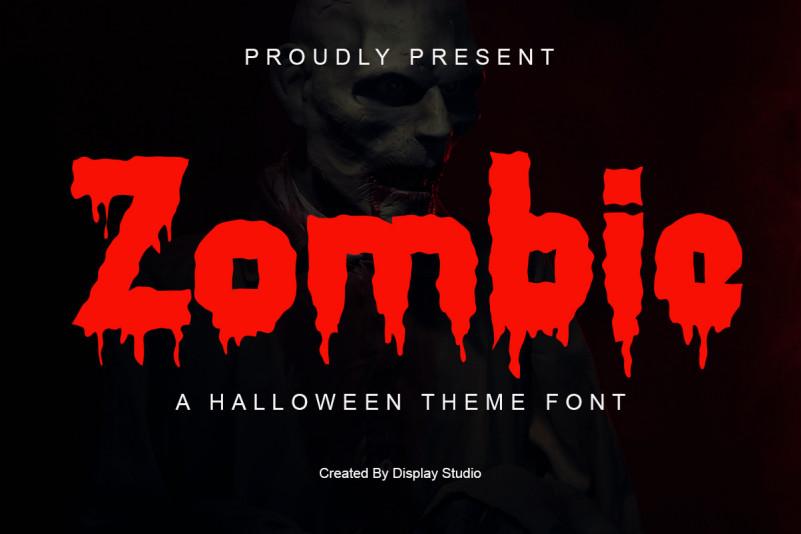 Zombie Display Font