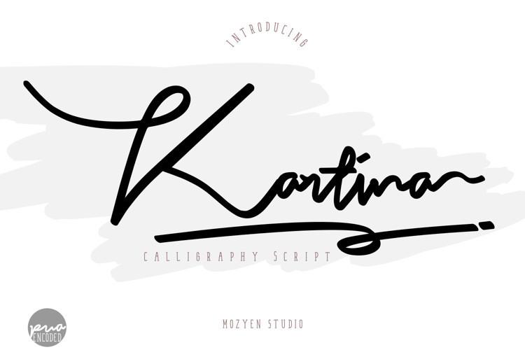 Kartina Handwritten Font