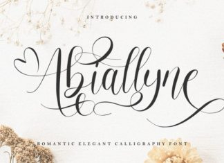 Abiallyne Calligraphy Font