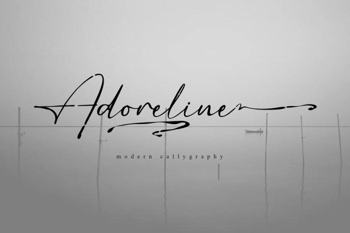 Adoreline Handwritten Font