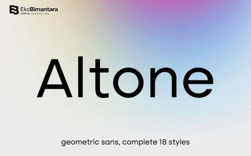 Altone Sans Serif Font