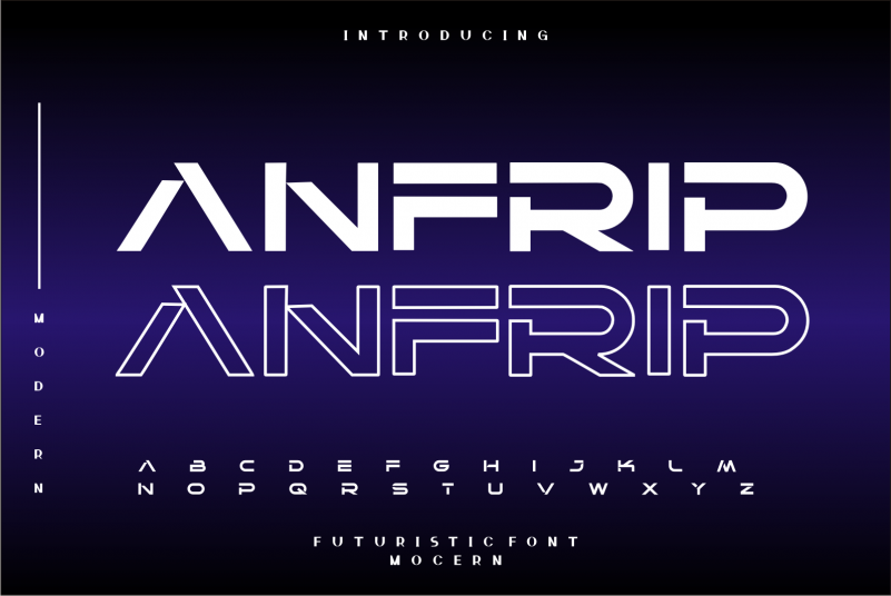 Anfrip Display Font