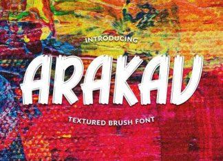 Arakav Brush Font