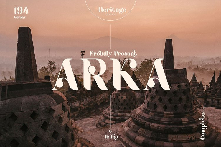ARKA Display Font