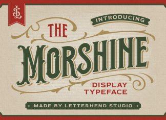 The Morshine Display Font