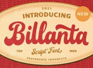 Billanta Script Font