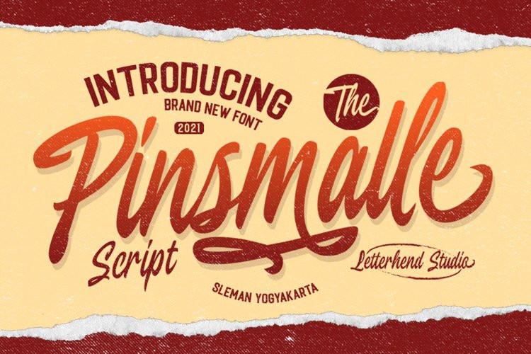 Pinsmalle Script Font