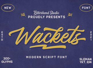Wackets Script Font