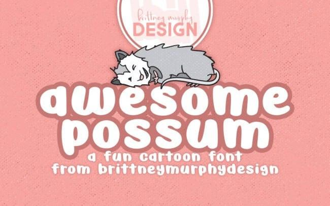 Awesome Possum Display Font