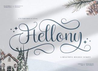 Hellony Calligraphy Font
