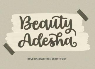 Beauty Adesha Script Font