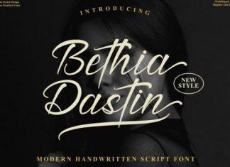 Bethia Dastine Script Font