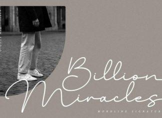 Billion Miracles Script Font