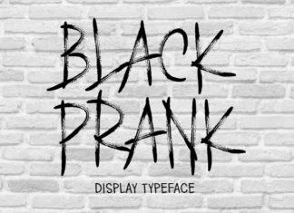 BLACK PRANK Brush Font