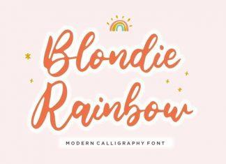 Blondie Rainbow Script Font
