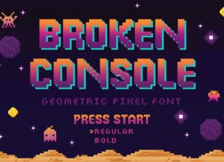Broken Console Display Font
