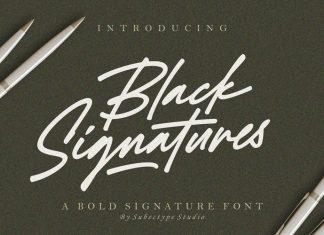 Black Signature Font