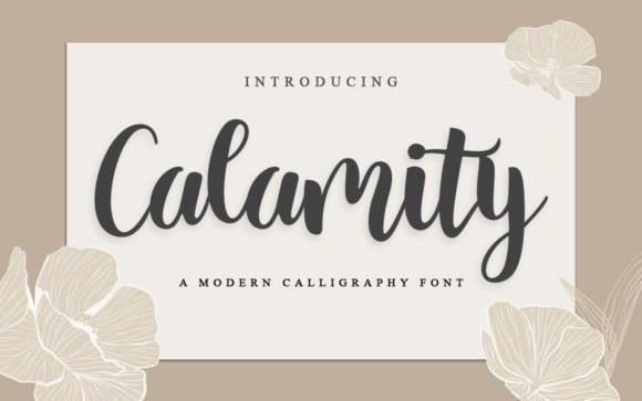 Calamity Script Font