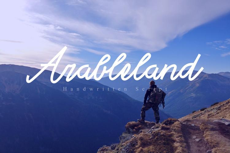 Arable land Handwritten Font