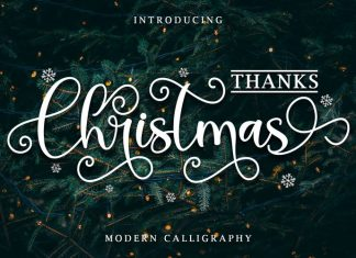 Thanks Christmas Script Font